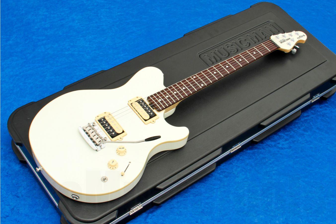Music Man USA Reflex HH Trem Guitar WH - Vintage White RW
