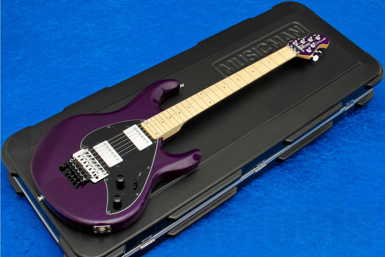 Music Man USA Silhouette HH FR TP - Translucent Purple MN MH Limited Edition
