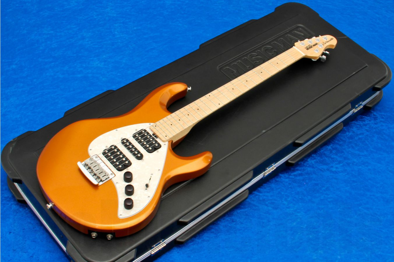 Music Man USA Silhouette HSH STD Piezo OFM - Orange Fire Mist MN