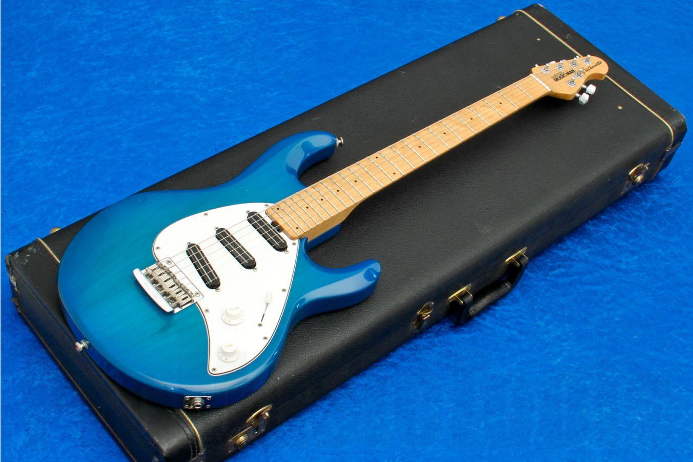 Music Man USA Silhouette SSS STD BB - Blue Burst MN