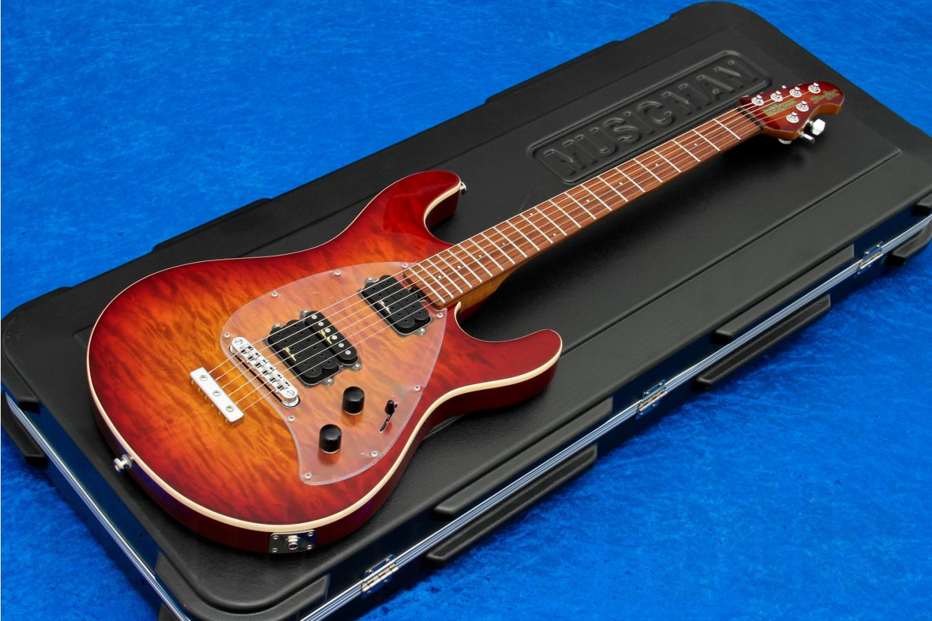 Music Man USA Steve Morse Y2D STD CH - PDN Honey Roasted Limited Edition