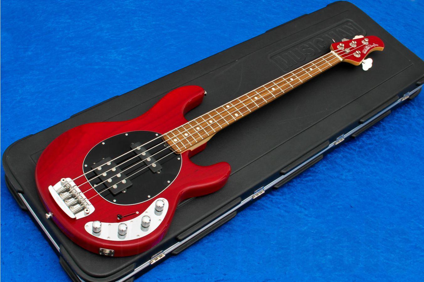 Music Man USA Stingray 4 HS TR - Translucent Red RW MH