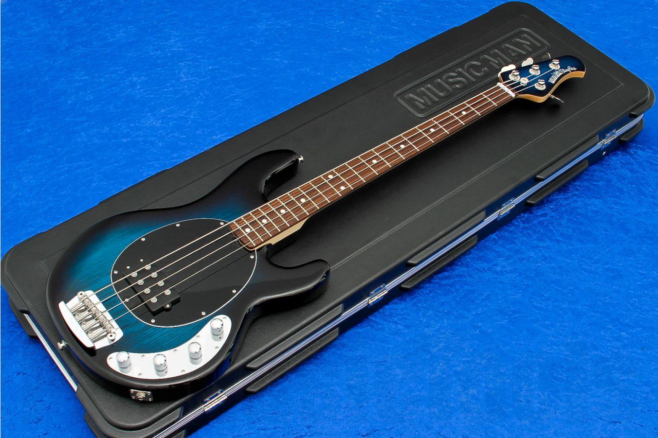 Music Man USA Stingray 4 PBB - Pacific Blue Burst RW MH