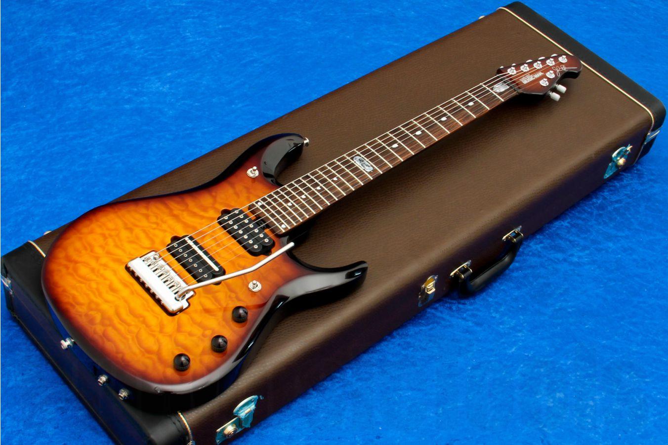 Music Man USA John Petrucci JP7 BFR QT TB - Tobacco Burst Quilt