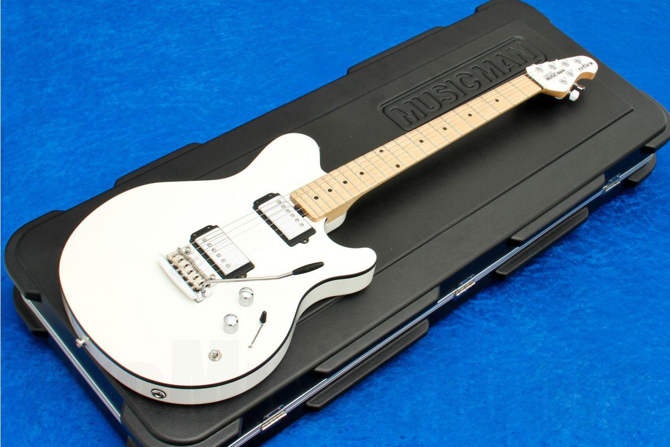 Music Man USA Reflex HH Trem WH Guitar - White MN