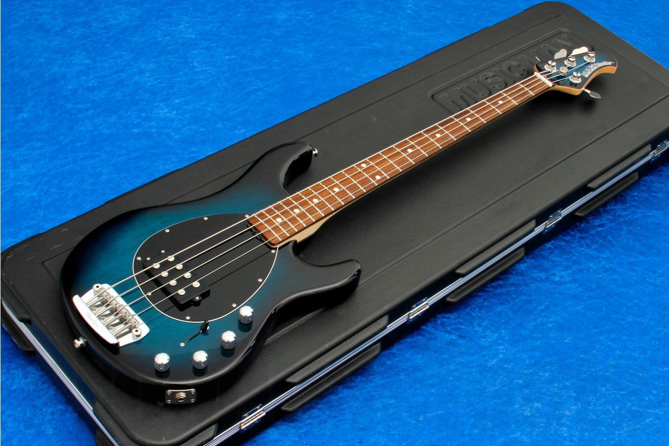Music Man USA Sterling 4 PBB - Pacific Blue Burst RW MH