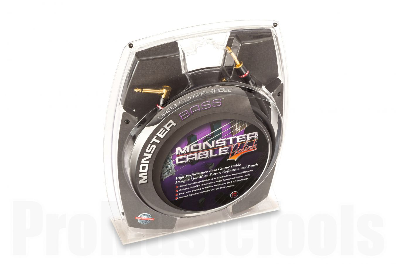Monster Cable Bass Straight/Angle 6.4m (21')