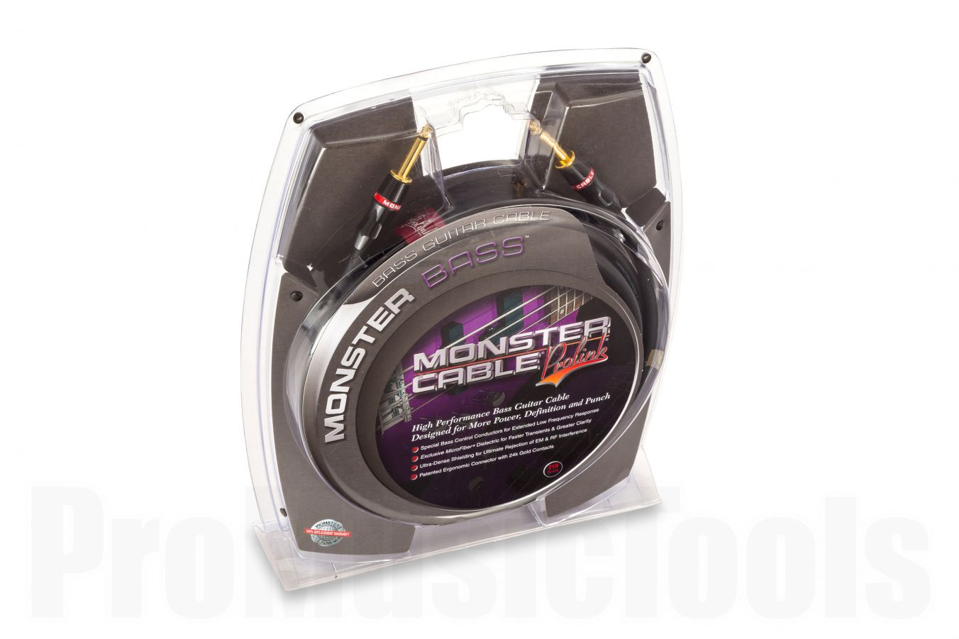 Monster Cable Bass Straight/Straight 6.4m (21')