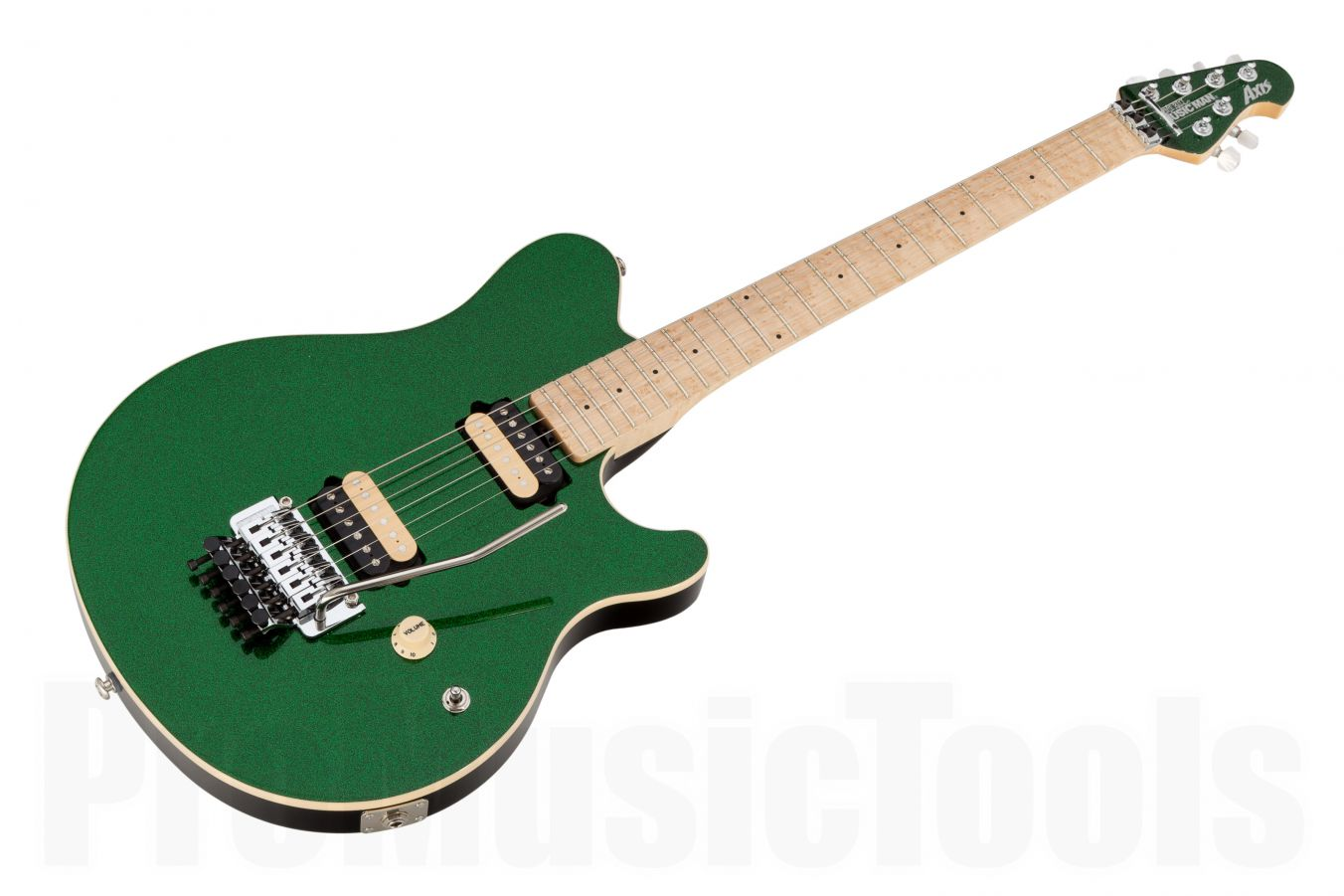Music Man USA Axis ES - PDN Emerald Green Sparkle Limited Edition MN MH