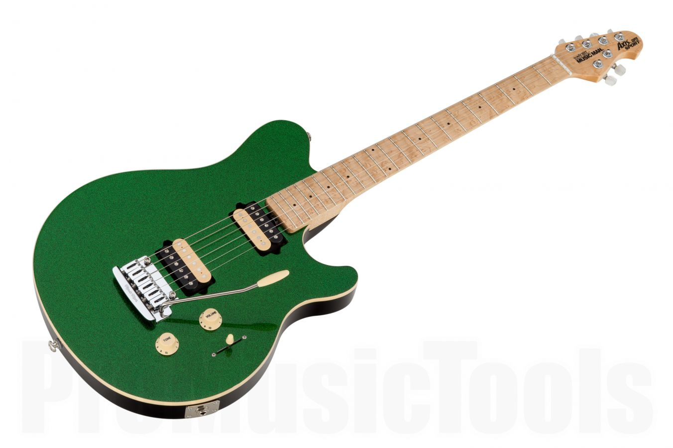 Music Man USA Axis Super Sport Trem ES - PDN Emerald Green Sparkle Limited Edition MN