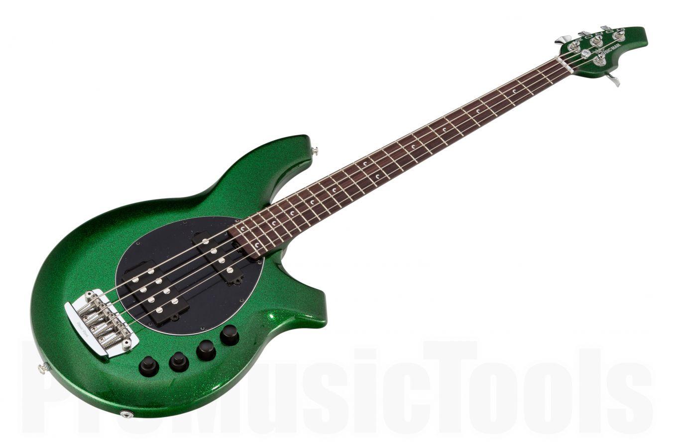 Music Man USA Bongo 4 HS ES - PDN Emerald Green Sparkle Limited Edition
