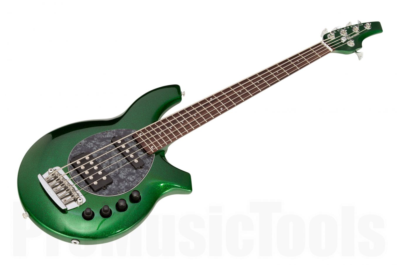 Music Man USA Bongo 5 HS ES - PDN Emerald Green Sparkle Limited Edition
