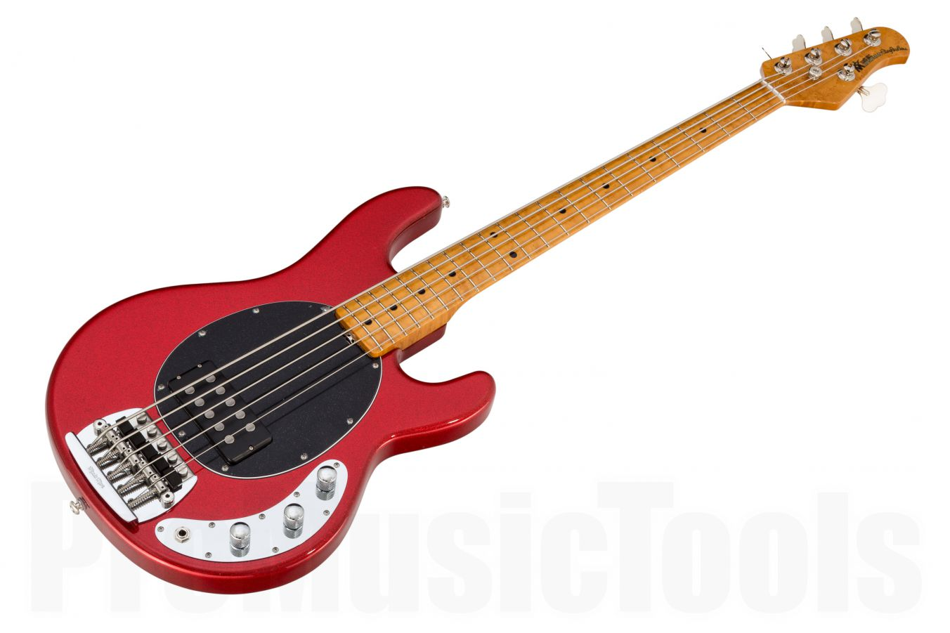 Music Man USA Classic Stingray 5 RS - PDN Cardinal Red Sparkle Limited Edition