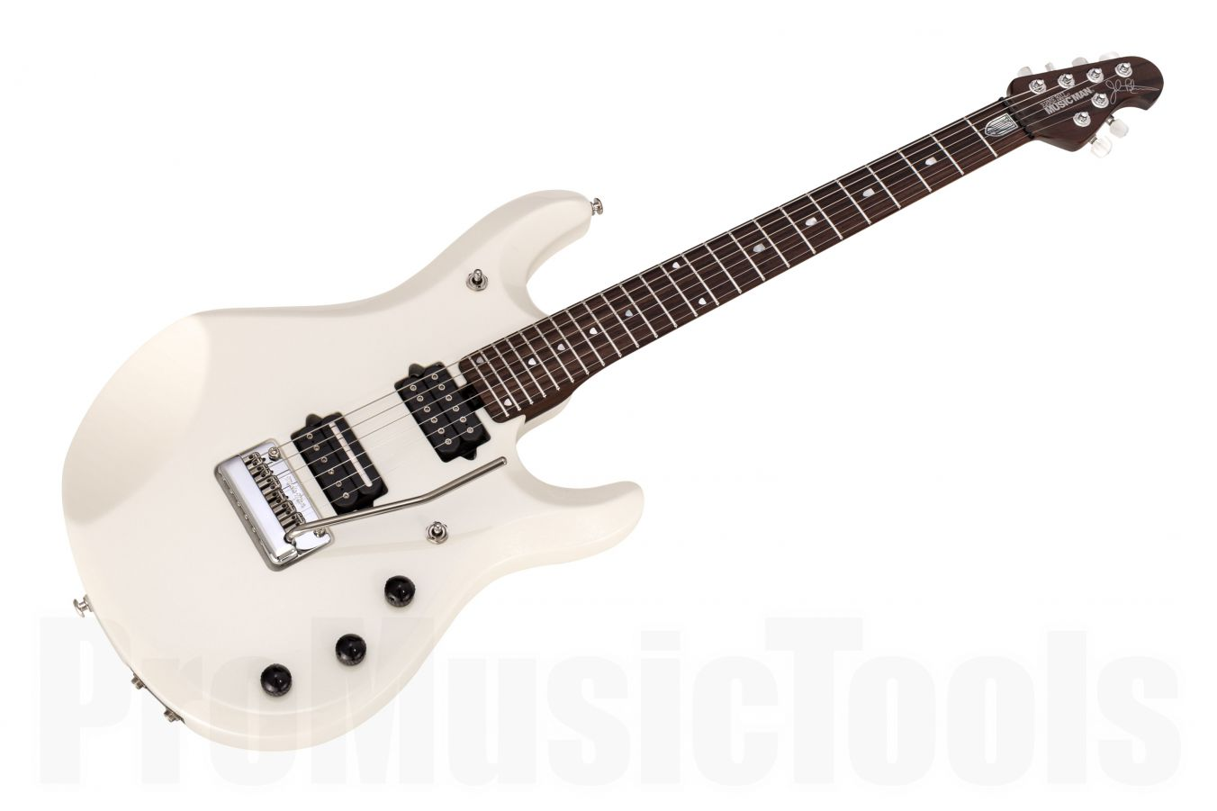 Music Man USA John Petrucci JP6 Piezo WP - White Pearl - JP Inlays - Rosewood Neck Limited Edition