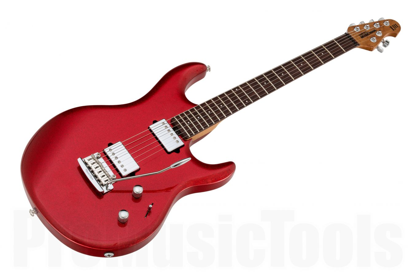 Music Man USA Luke III HH RS - PDN Cardinal Red Sparkle Limited Edition