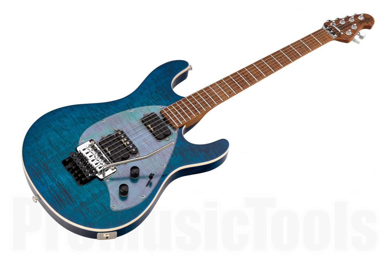 Music Man USA Steve Morse Y2D FR NB - PDN Neptune Blue Roasted Neck Limited Edition QT MN PV