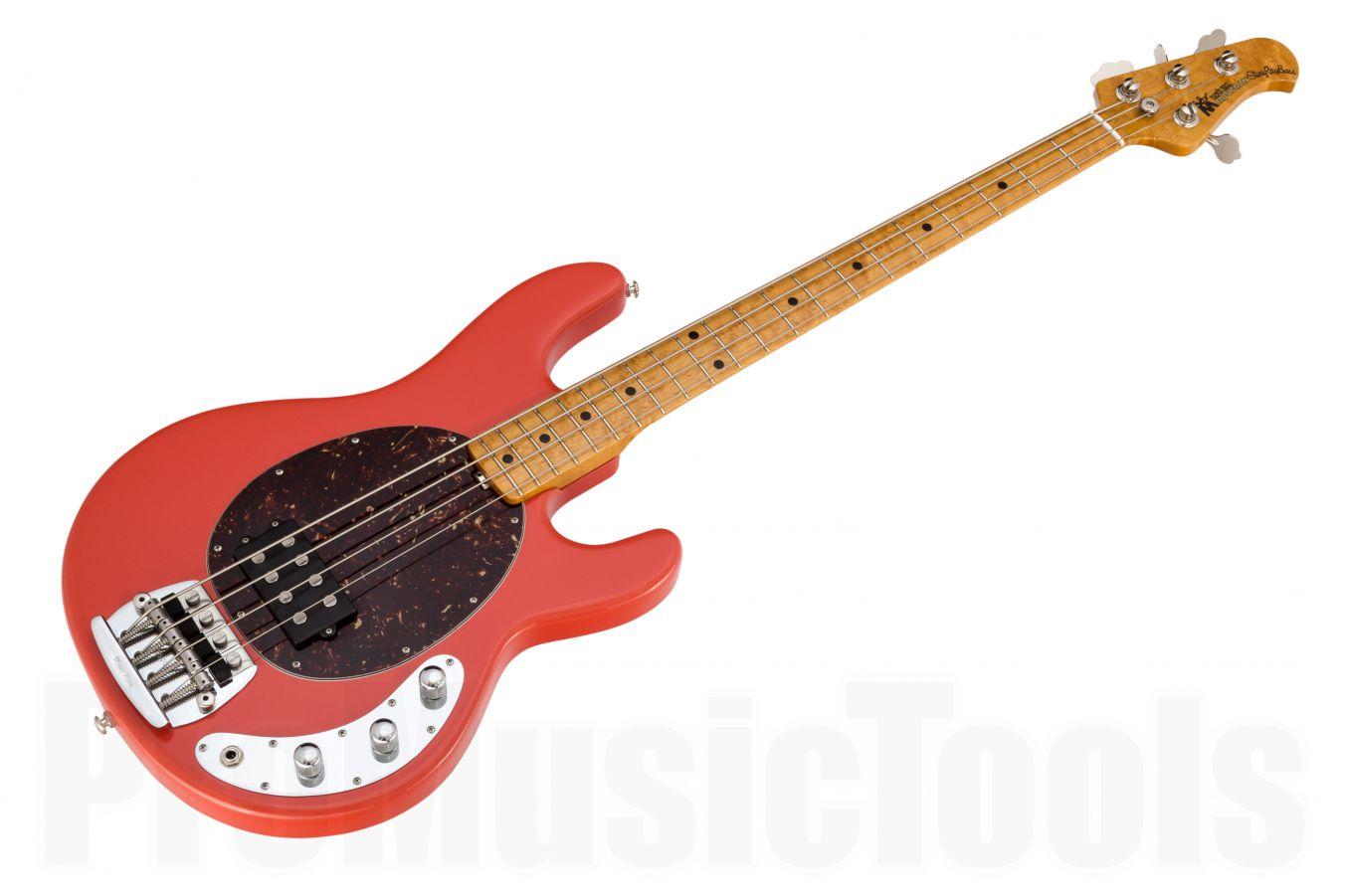Music Man USA Classic Stingray 4 CRD - Coral Red MN Birdseye