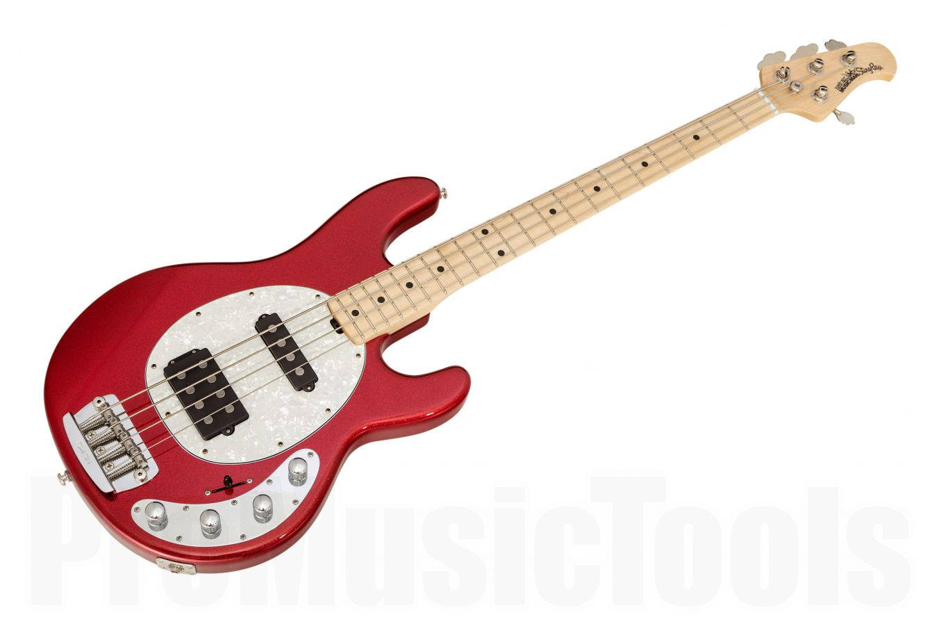 Music Man USA Stingray 4 HS RS - PDN Cardinal Red Sparkle Limited Edition MN