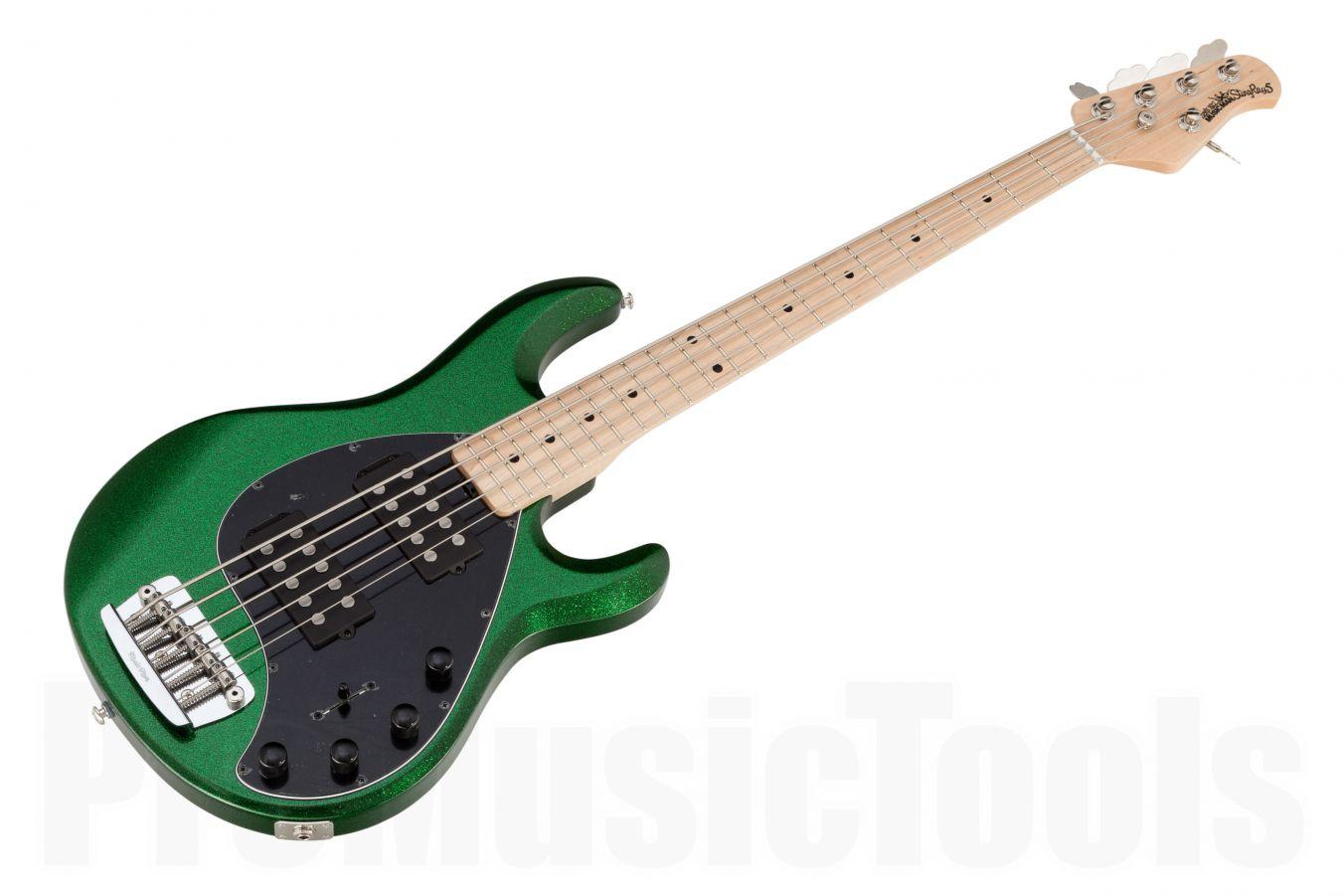 Music Man USA Stingray 5 HH ES - PDN Emerald Green Sparkle Limited Edition MN