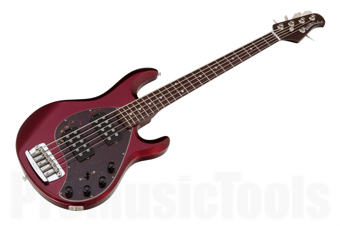 Music Man USA Stingray 5 HH CR - Candy Red - Rosewood Neck Limited Edition