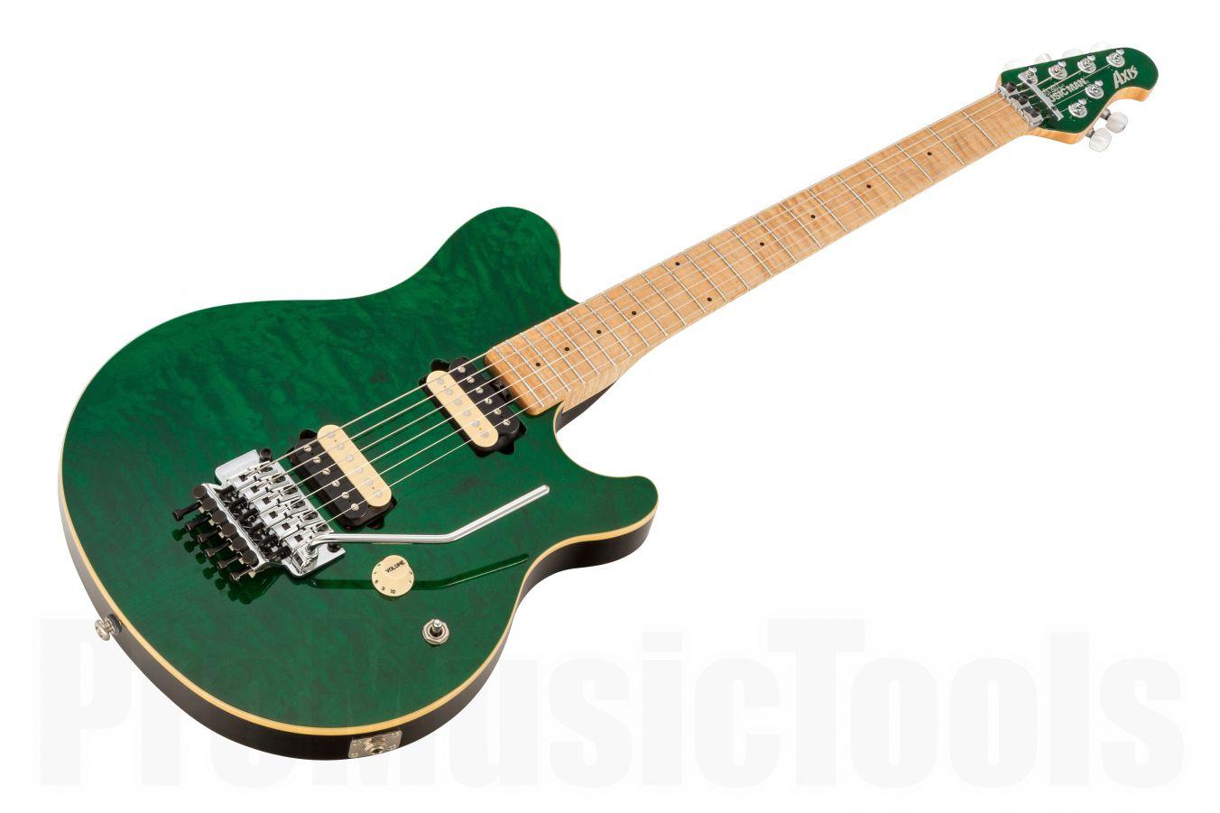 Music Man USA Axis TGN - Translucent Green MH QT