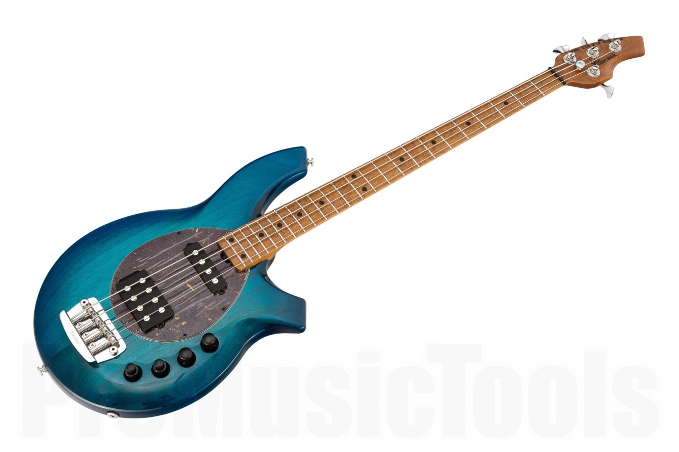 Music Man USA Bongo 4 HS NB - PDN Neptune Blue Roasted Neck Limited Edition MN PV