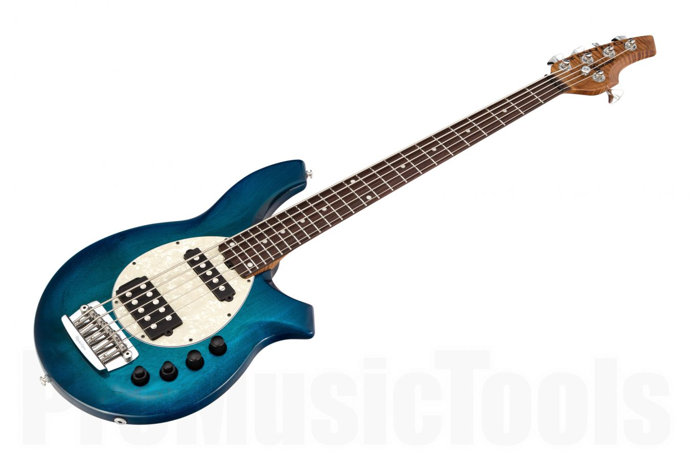 Music Man USA Bongo 5 HS NB - PDN Neptune Blue Roasted Neck Limited Edition RW PV