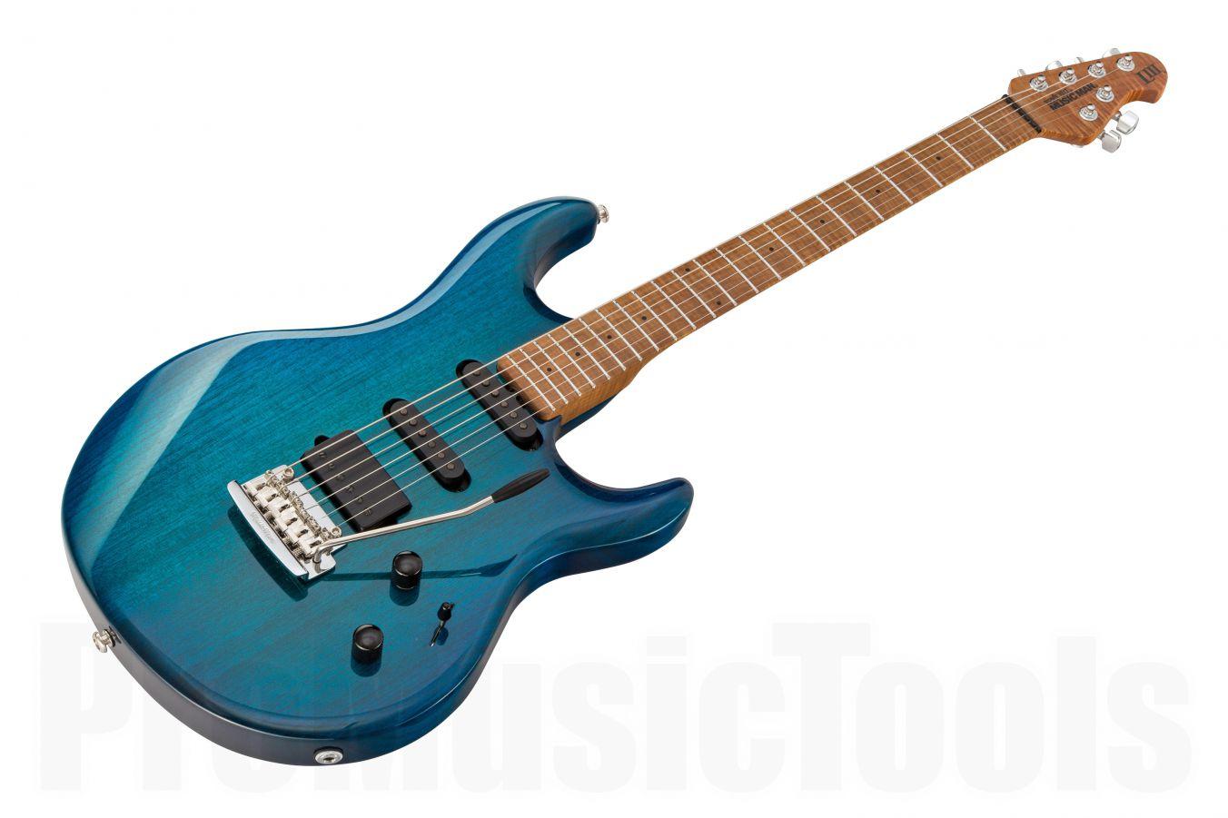 Music Man USA Luke III HSS NB - PDN Neptune Blue Roasted Neck Limited Edition MN
