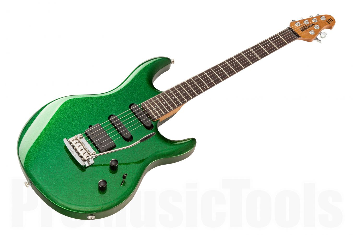 Music Man USA Luke III HSS ES - PDN Emerald Green Sparkle Limited Edition