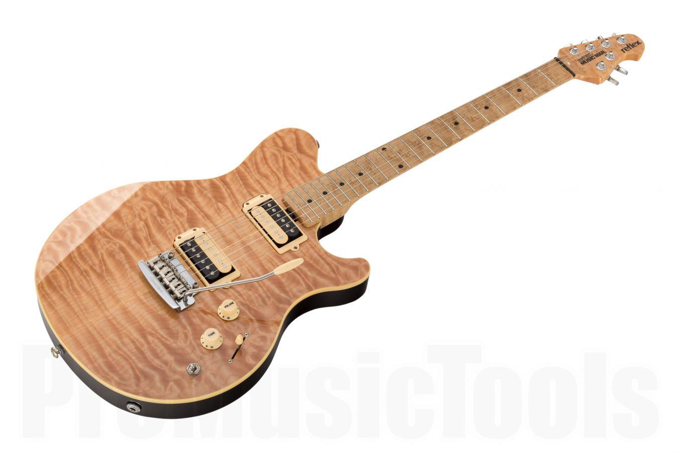 Music Man USA Reflex HH Trem Guitar NT - Natural MN Birdseye