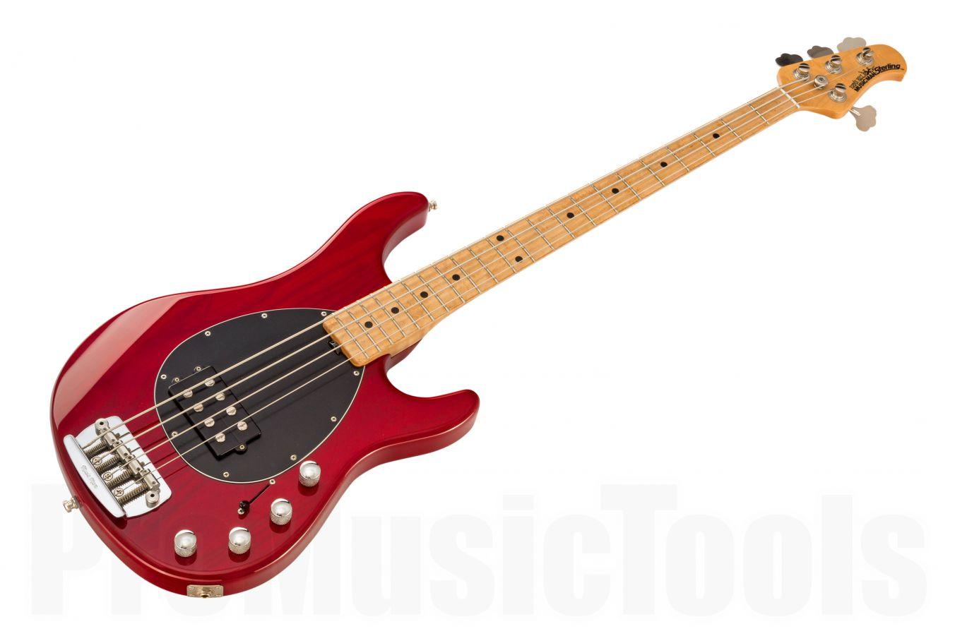Music Man USA Sterling 4 TR - Translucent Red MN Birdseye