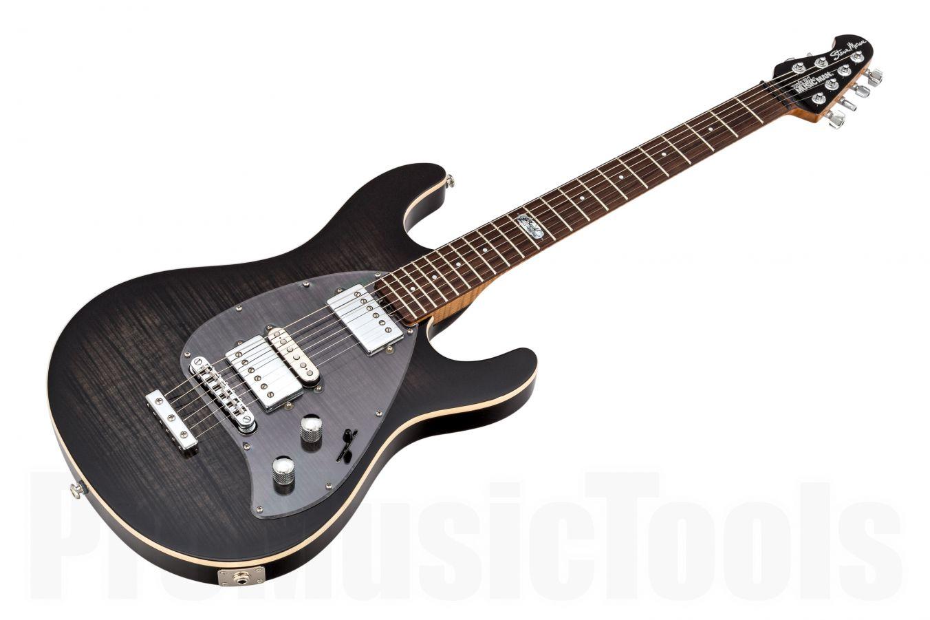 Music Man USA Steve Morse Y2D BFR Darklord Limited Edition BKB - Black Burst - Reverse Headstock