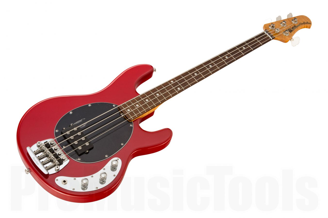 Music Man USA Classic Stingray 4 CLR - Classic Red RW Flame BKPG