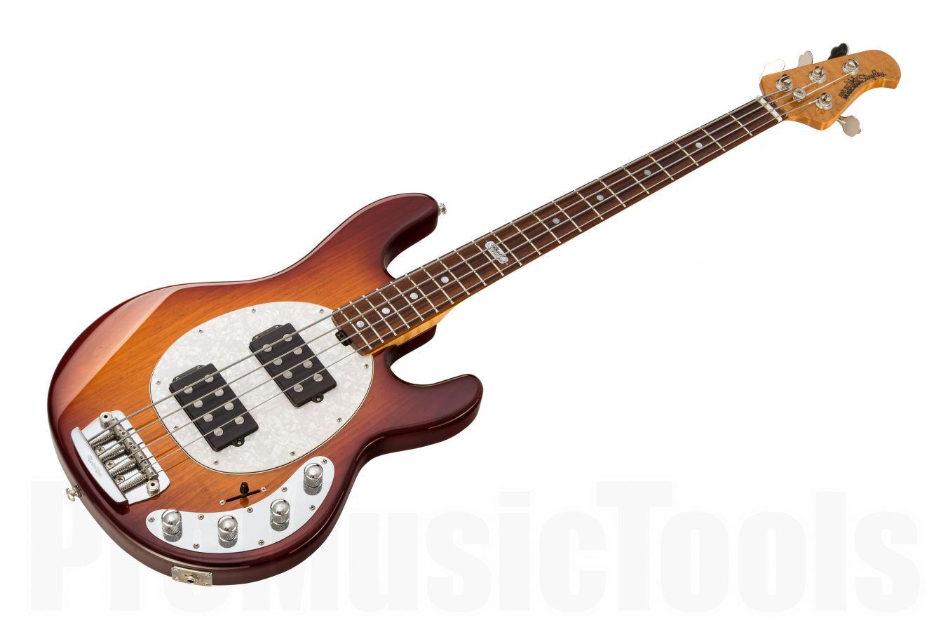 Music Man USA Stingray 4 HH BFR HB - Honey Burst - Pau Ferro fretboard