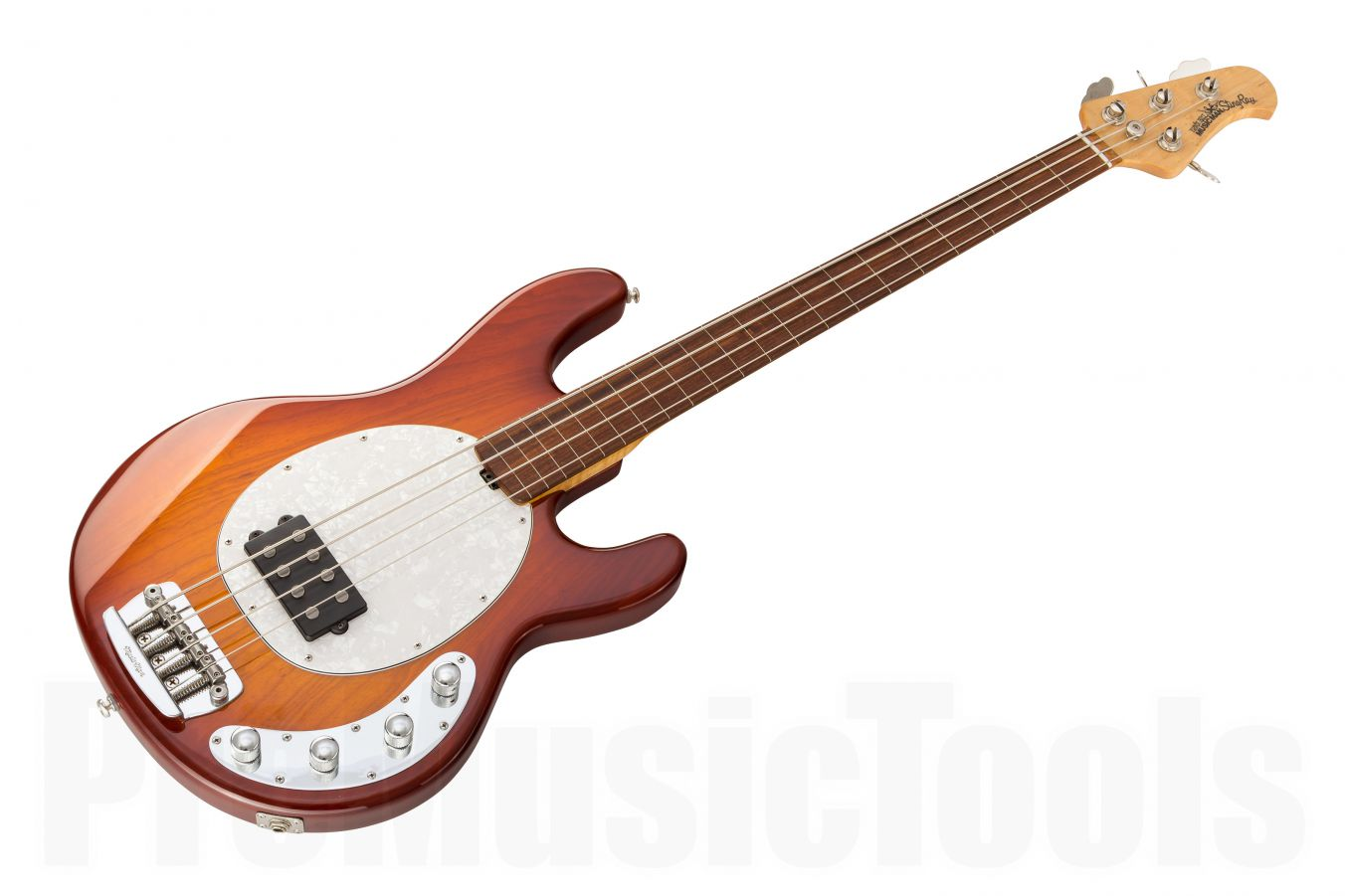 Music Man USA Stingray 4 Lined Fretless HB - Honey Burst