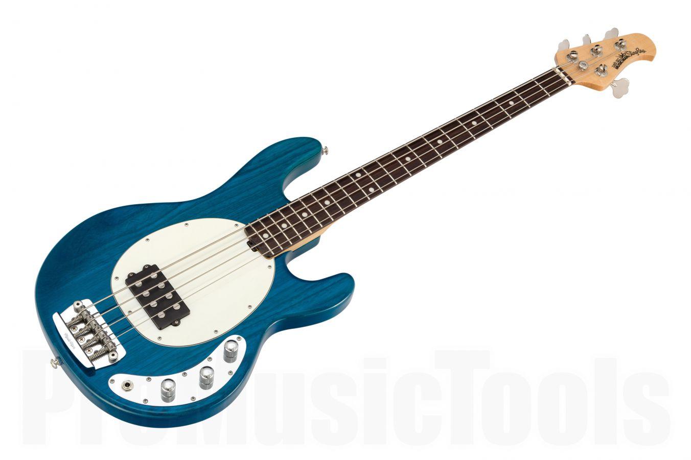 Music Man USA Stingray 4 2EQ TB - Translucent Blue RW