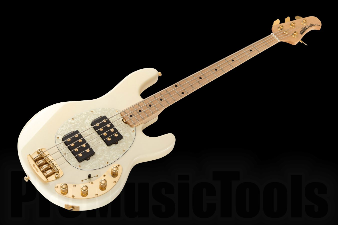 Music Man USA Stingray 4 HH SLO Special WH - White MN - Gold Hardware Limited Edition