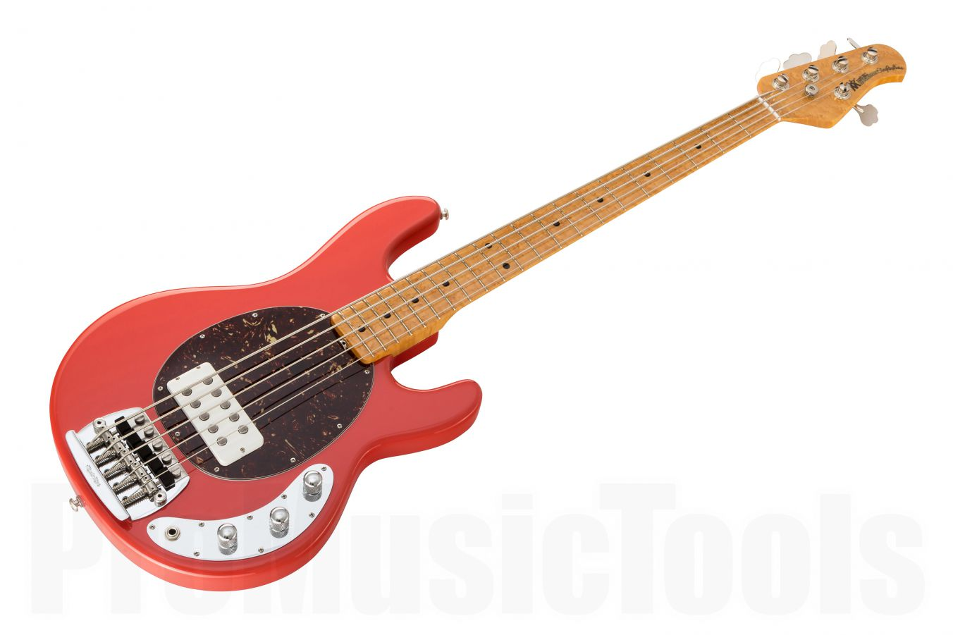 Music Man USA Classic Stingray 5 CRD - Coral Red MN Birdseye PV