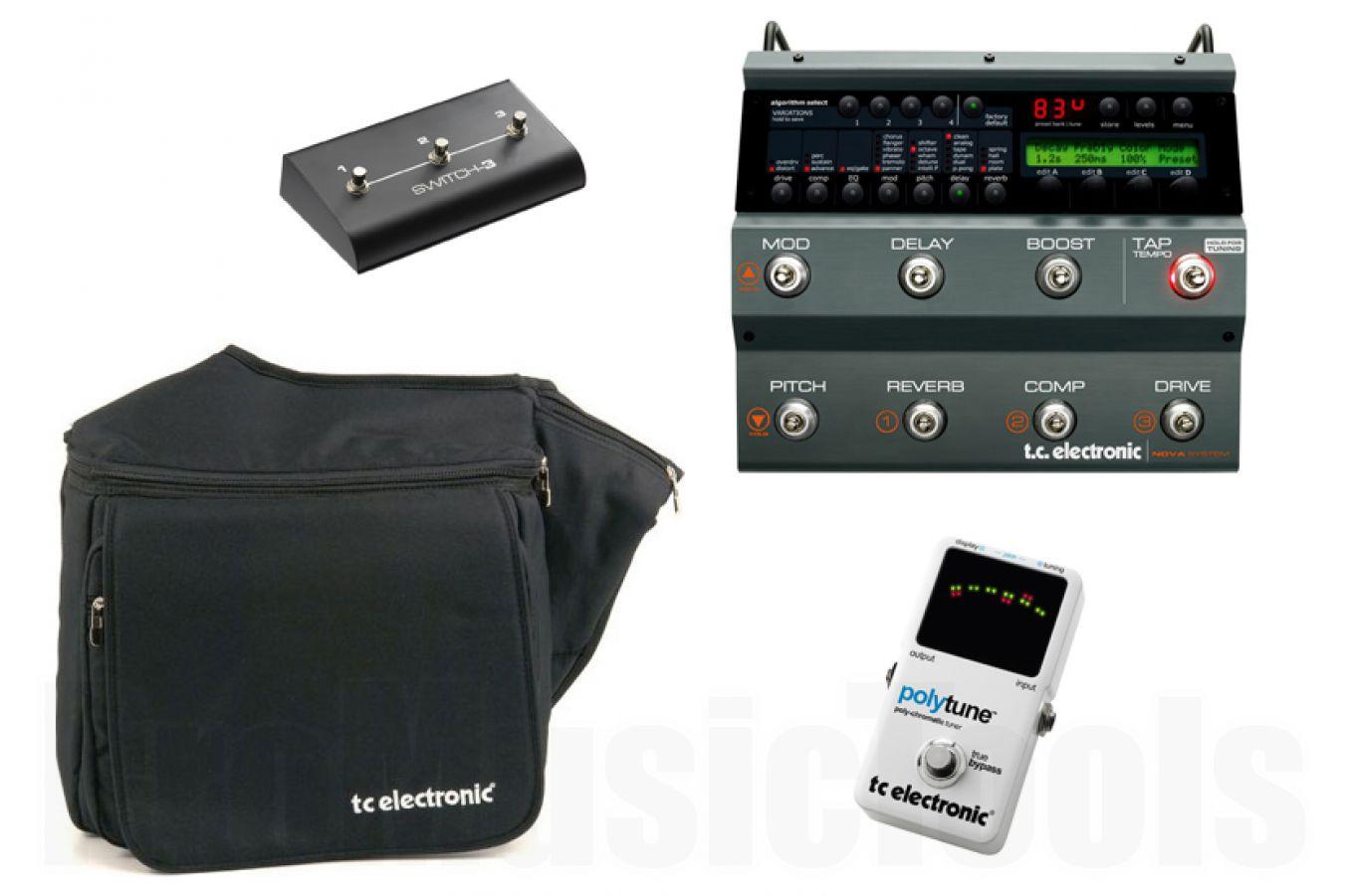 TC Electronic Nova System Ultimate Gig Bundle - incl. PolyTune, Switch-3 & gigbag