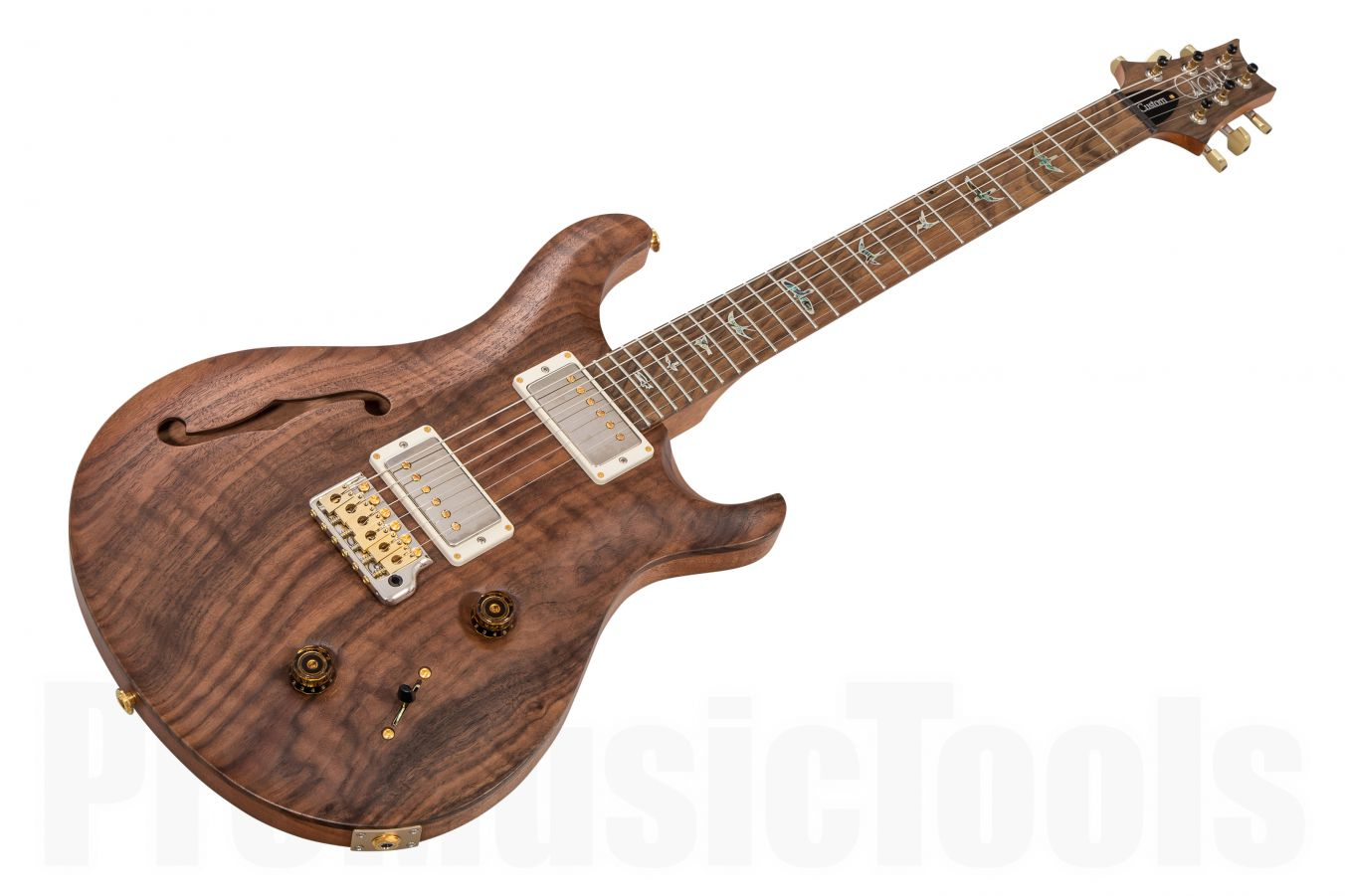 PRS USA Custom 22 Semi-Hollow NA - Natural Satin - Private Stock Figured Walnut Top Ziricote FB HYB