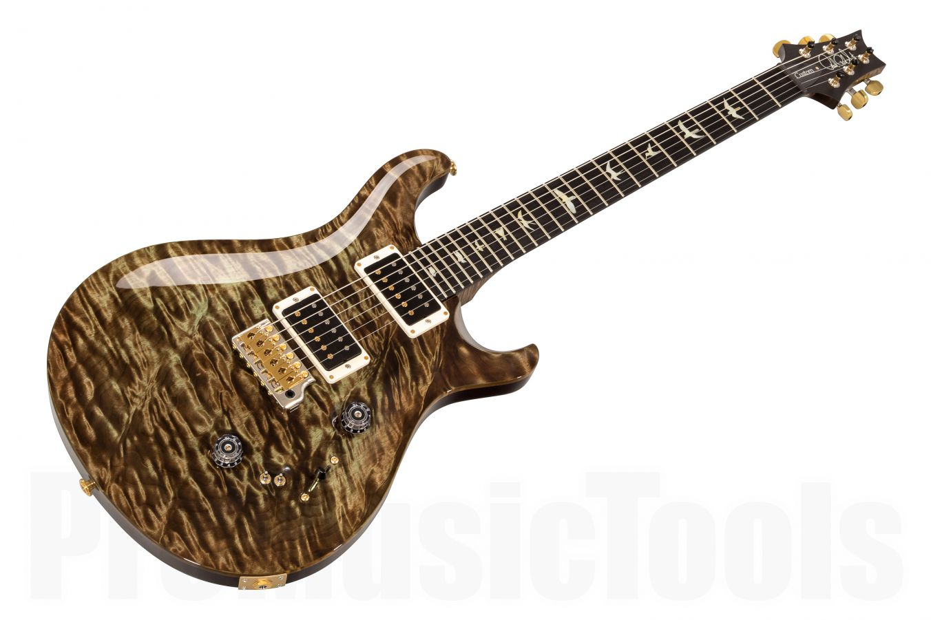 PRS USA Custom 24-08 Experience Wood Library T9 (MG) - Mash Green - 1-pc Quilt top