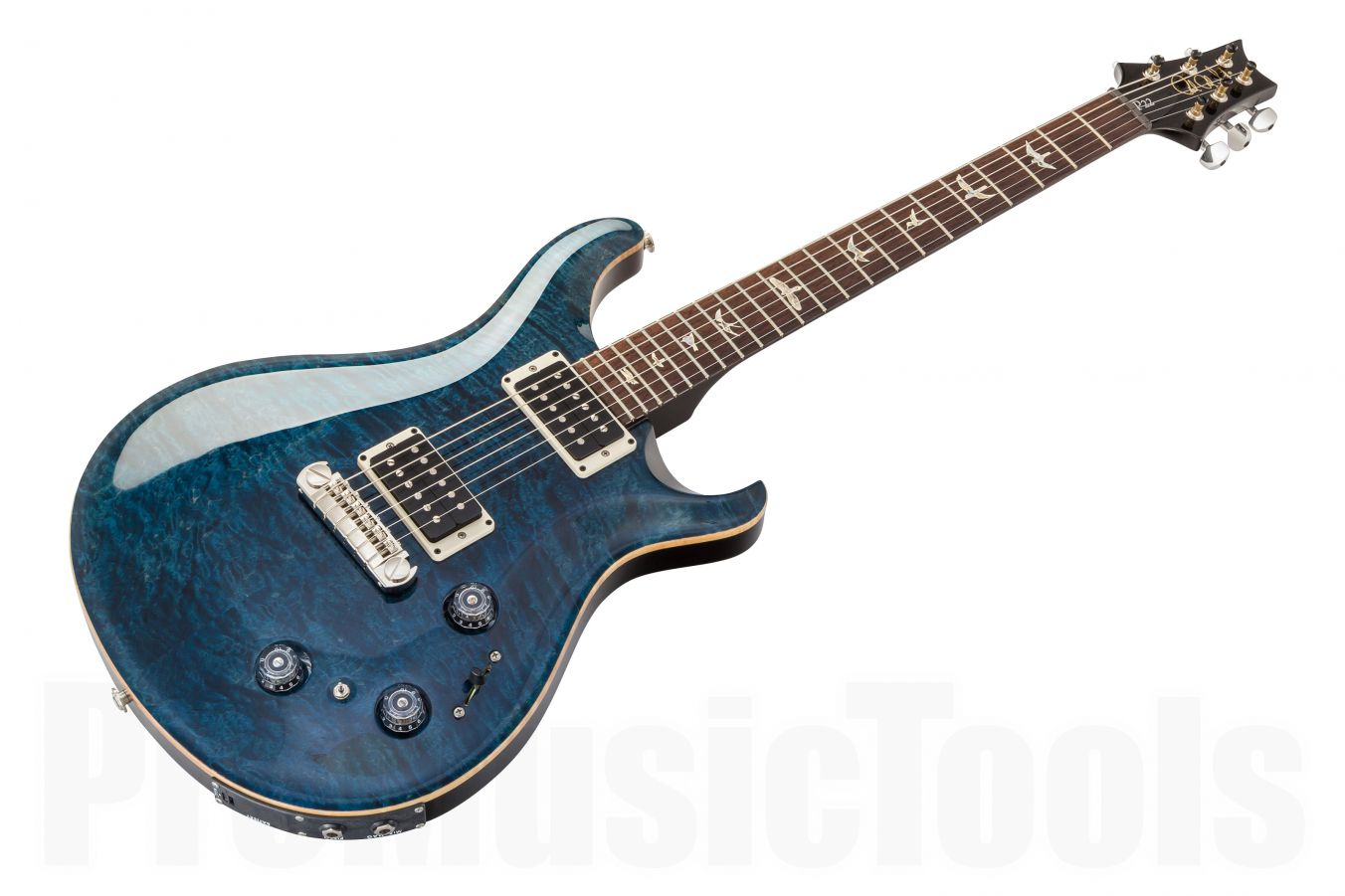PRS USA Custom 22 Piezo (P22) Stoptail Quilted Top WB - Whale Blue