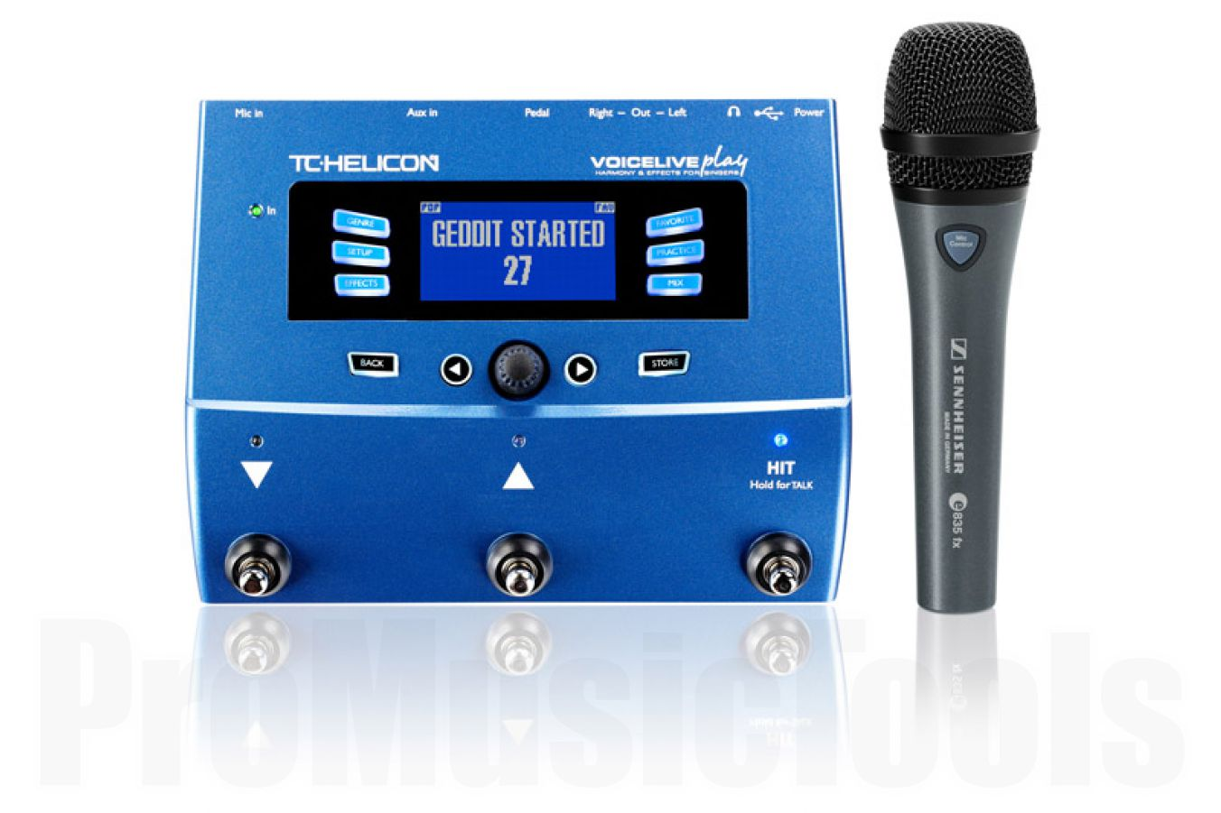 TC Helicon VoiceLive Play & Sennheiser E835FX Bundle - b-stock (1x opened box)