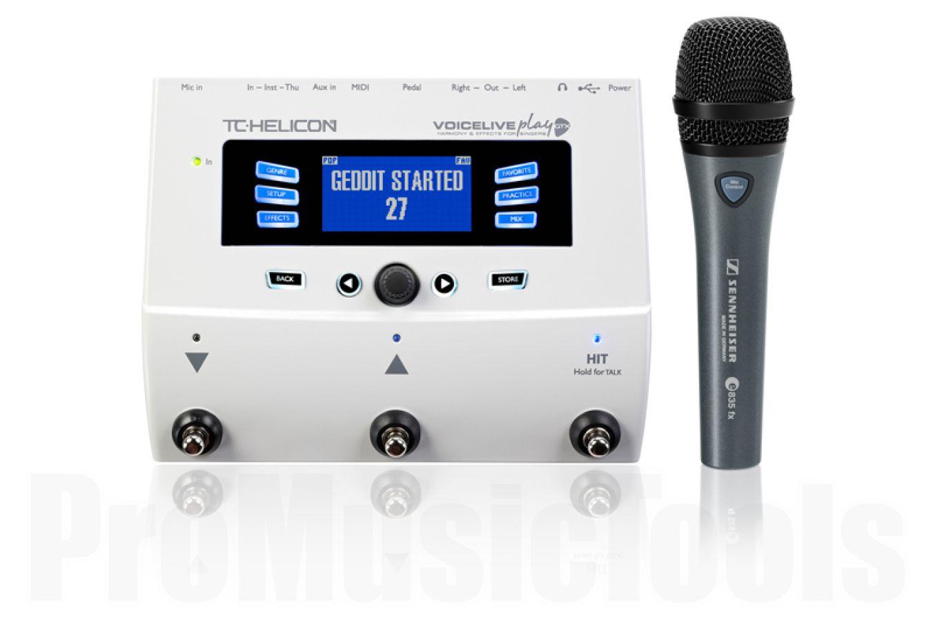 TC Helicon VoiceLive Play GTX & Sennheiser E835FX Bundle
