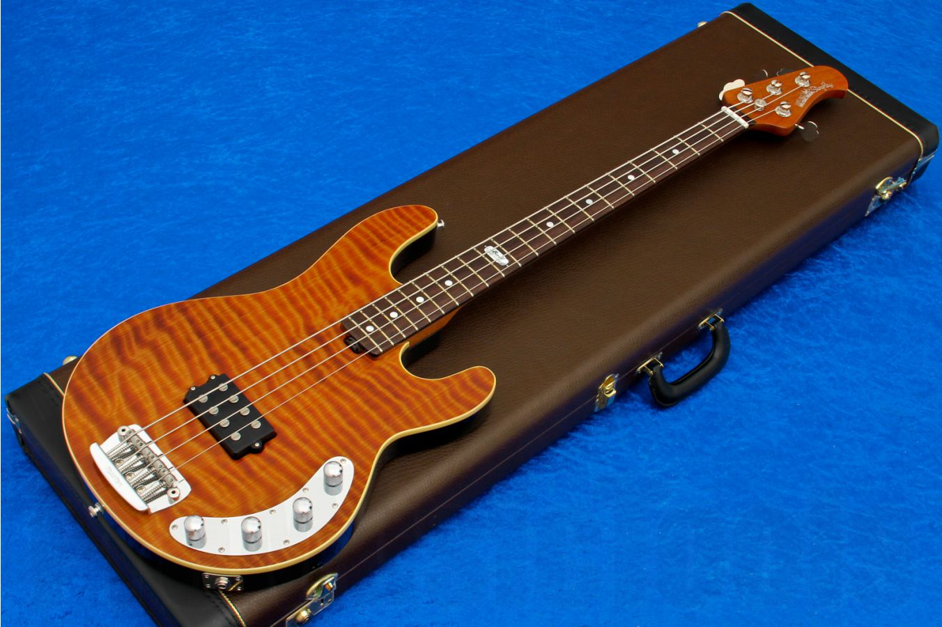 Music Man USA Stingray 4 BFR LE - Redwood Limited Edition