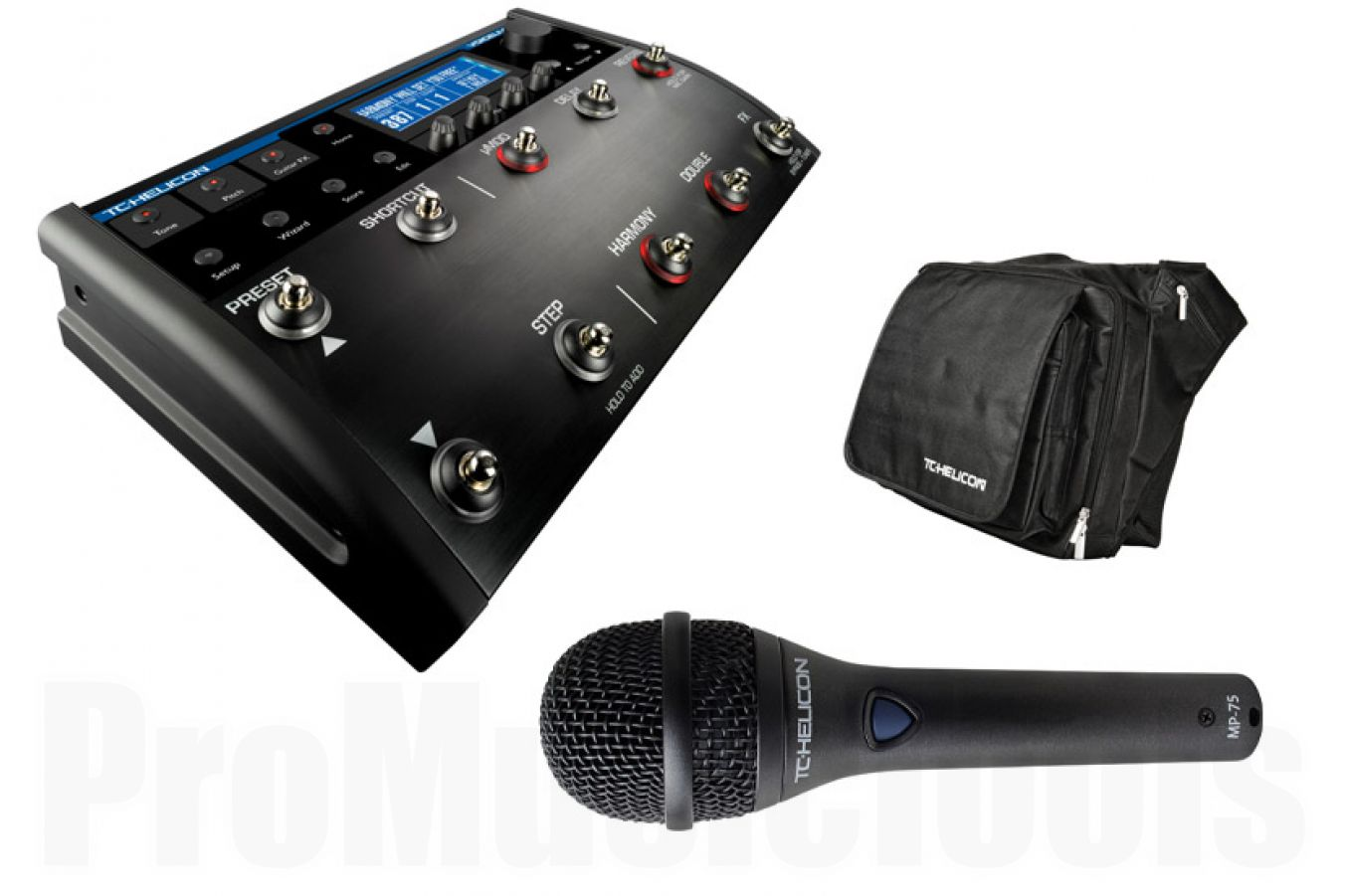 TC Helicon Singers Pro FX Gig Bundle - incl. VoiceLive 2, MP-75 & Gigbag