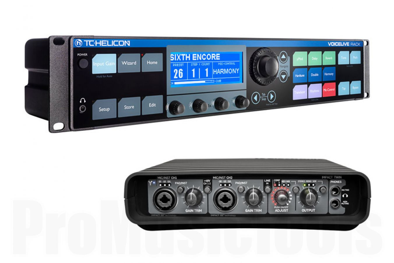 TC Helicon VoiceLive Rack Ultimate Studio Bundle incl. TC Electronic Impact Twin
