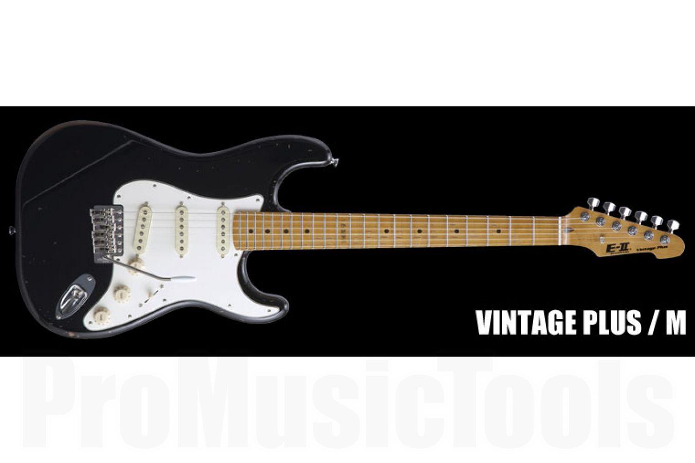 ESP E-II Vintage Plus /M Distressed BK - Black