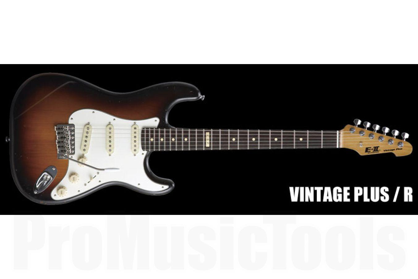 ESP E-II Vintage Plus /R Distressed 3TS - 3-Tone-Sunburst