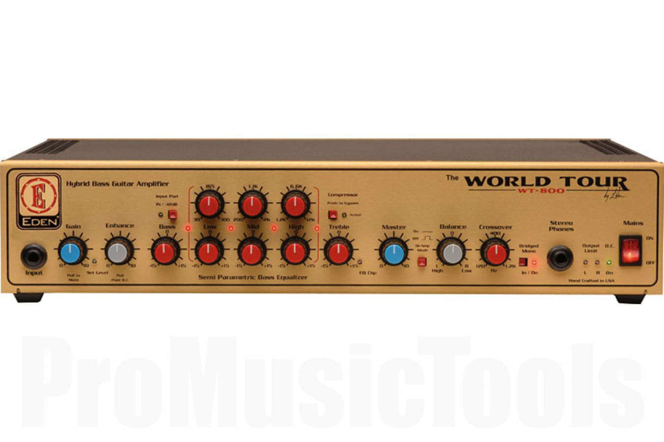 Eden WT800 World Tour Stereo bass amp head